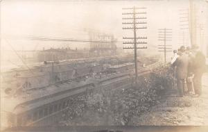 E28/ Occupational Photo RPPC Postcard c1910 Railroad Coal Cars Factory Men  36