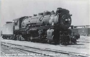 RPPC of Western Pacific  #326 2-8-2 Steam Locomotive, Kodak Paper RP