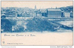 Germany Gruss Aus Werden Panorama 1900