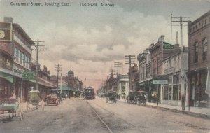 Tucson , Arizona , 1908 ; Congress street Looking East