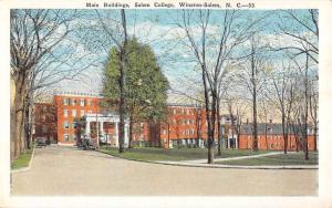Winston Salem North Carolina College Main Bldg Antique Postcard K71012