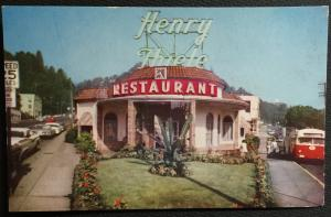 Postcard Unused Henry Thiele Restaurant Portland OR LB