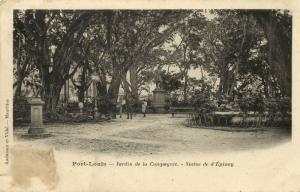 mauritius, PORT-LOUIS, Jardin de la Compagnie, Statue de d'Epinay (1899)