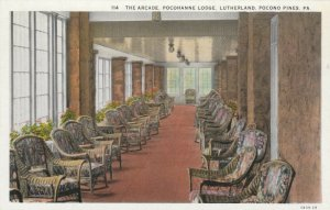 POCONO PINES, Pennsylvania, 1900-10s; The Arcade, Pocohanne Lodge, Lutherland
