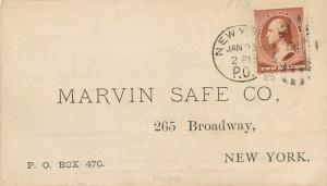 Advertising Marvin Save Co. Key Checks 265 Broadway New York City Pioneer 1885