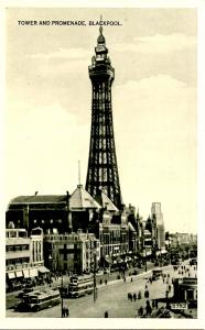 UK - England, Blackpool. Central Promenade and Tower