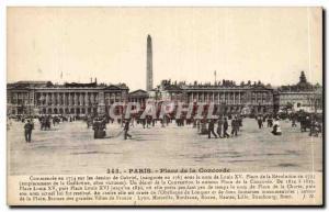 Paris Postcard Old Place Concorde