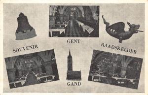 Belgium Souvenit Gent Raadnskelder Church interior Postcard