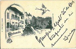 Ansichtskarten Schweiz VINTAGE POSTCARD: SWITZERLAND - GRUSS AUS: CHALAMA