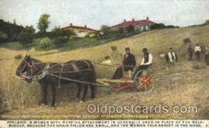 Finland Farming, Farm, Farmer, Postcard Postcards International Harvester Com...