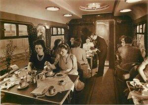 Postcard published by Rail Photo Print afternoon tea restaurant car wagon