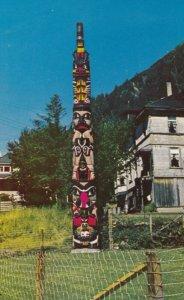 Juneau , Alaska , 1950-60s ; Old Witch Totem Pole