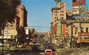 NM - Albuquerque. Looking West on Central Avenue