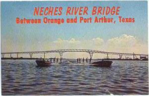 Neches River Bridge Between Orange & Port Authur Texas TX