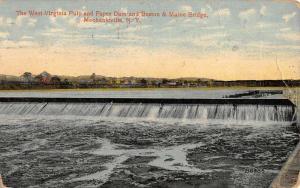 Mechanicville New York Pulp And Paper Dam Antique Postcard K73197