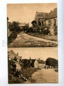 206454 WWI village on western front german military postcard