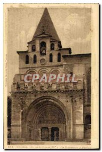Postcard Old Stone XII Moissac Church St S Bell Tower and Portal