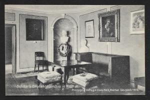 Schiller's Parlor Weimar Germany Unused c1910s