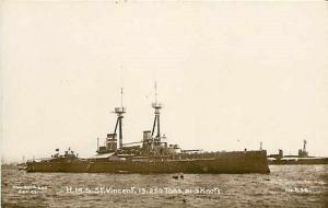 H.M.S. Saint Vincent, RPPC, Spithead Series No. 656