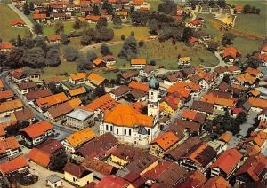 Nesselwang im Allgaeu mit Pfarrkirche St Andreas Church Airview