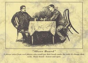 Poker Body Language Above Board Hand Change Postcard