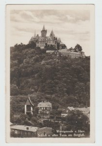 Vintage RPPC Postcard Wernigerode_Harz Castle and old tower Germany 1933