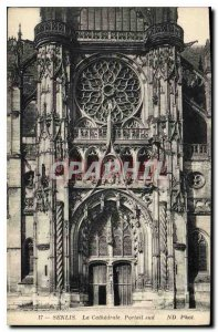 Old Postcard Senlis (Oise) Cathedrale Portal south