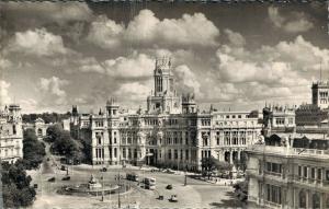 Spain Madrid Plaza de la Cibeles y Palacio de Comunicaciones RPPC 01.65