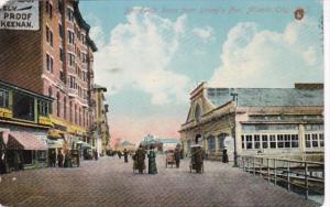 New Jersey Atlantic City Boardwalk Scene From Young's Pier 1910