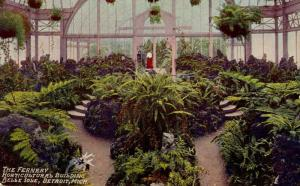 MI - Detroit. Belle Isle, Horticultural Building, Interior