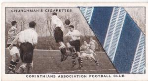 Cigarette Card Churchman WELL KNOWN TIES No 48 Corinthians Ass. Football Club