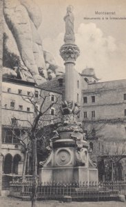 MONTSERRAT, Spain, 1900-1910's ; Monumento a la Inmacutada