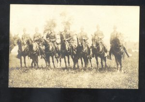 RPPC MEXICAN BORDER WAR U.S. ARMY 126th CAVALRY VINTAGE REAL PHOTO POSTCARD