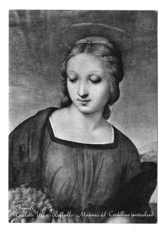 Raphael Painting Madonna del Cardellino detail Uffizi Glossy Photo 4X6 Postcard