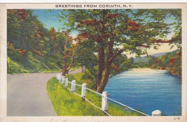 New York Greetings From Corinth 1947