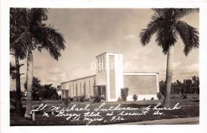 Florida Fl Real Photo RPPC 50s FT MYERS St Michael Lutheran Church