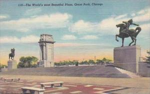 Illinois Chicago Grant Park The Worlds Most Beautiful Plaza