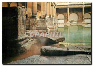 Postcard Modern Bath England The Great Roman bath and diving stone - First Ce...