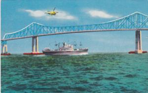 Ship Channel Bridge of Sunshine Highway , Florida , PU-1957