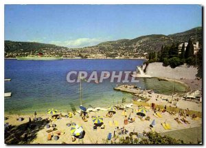 Postcard Modern French Riviera Cap Ferrat Passable Beach Basically Villefranc...