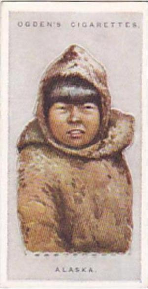Ogdens Vintage Cigarette Card Children Of All Nations 1924 No 2 Alaska