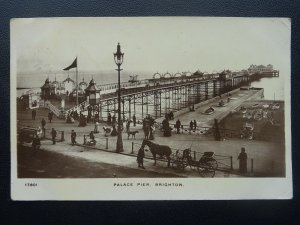 Sussex BRIGHTON Palace Pier ANIMATED SCENE c1911 RP Postcard by W.D. & S. Ltd