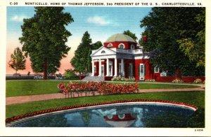 Virginia Charlottesville Monticello Home Of Thomas Jefferson