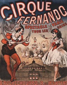 Cirque Fernando Clown French Circus Modern Poster Postcard