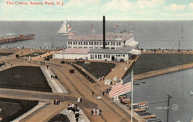 The Casino, Asbury Park, New Jersey, Early Postcard, Unused