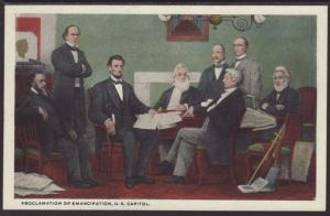 Proclamation of Emancipation,Painting Postcard