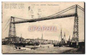 Old Postcard Rouen Transporter Bridge