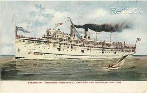 Steamer Theodore Roosevelt, Chicago and Michigan City Line, V.O. Hammond 680