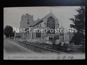c1909 - St. Mary's Church, Eastbourne Old Town - LL.