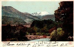 Colorado Pikes Peak From Near Colorado City 1907